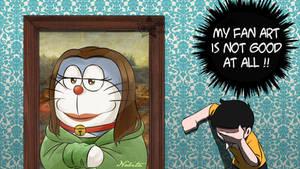 Doraemon : Fan art Mon-na lisa of Nobita