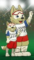 World Cup 2018 - Zabivaka meets his mascot