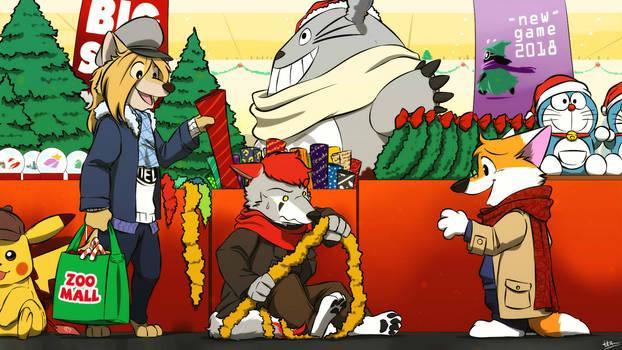 Commission Art : Christmas stuff problem