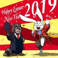 My OC - Happy Lunar New Year 2019 - First art by doraemonbasil