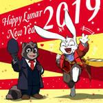 My OC - Happy Lunar New Year 2019 - First art