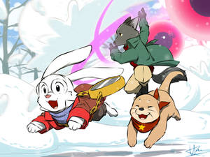 The snowball fight !