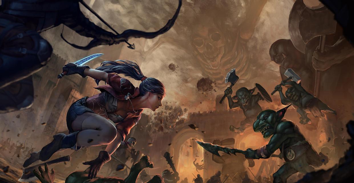 Fcc images gobelins dragons magic the gathering for Portent gatherer