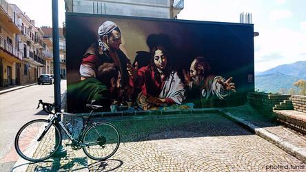 Caravaggio on the road, San Salvatore di Fitalia. by rebelblues