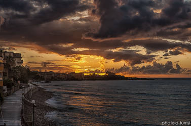 Caronia Marina rainy sunset 3