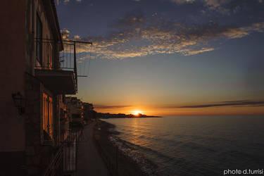 Sunset in Marina di Caronia.