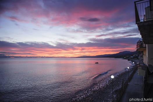 Sunrise in Marina di Caronia.