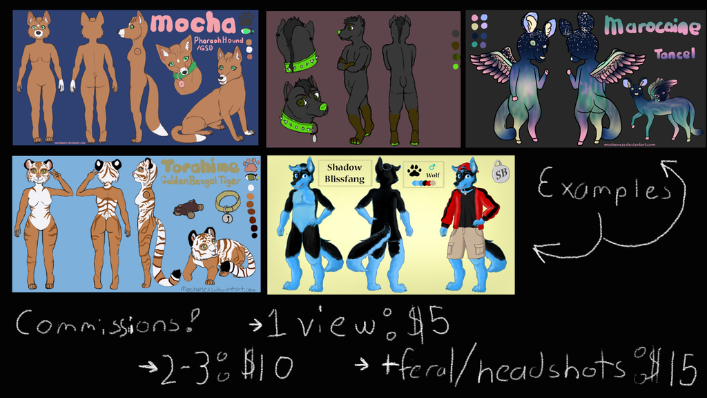 Anthro Commission Info! $5-15 by MochaNess
