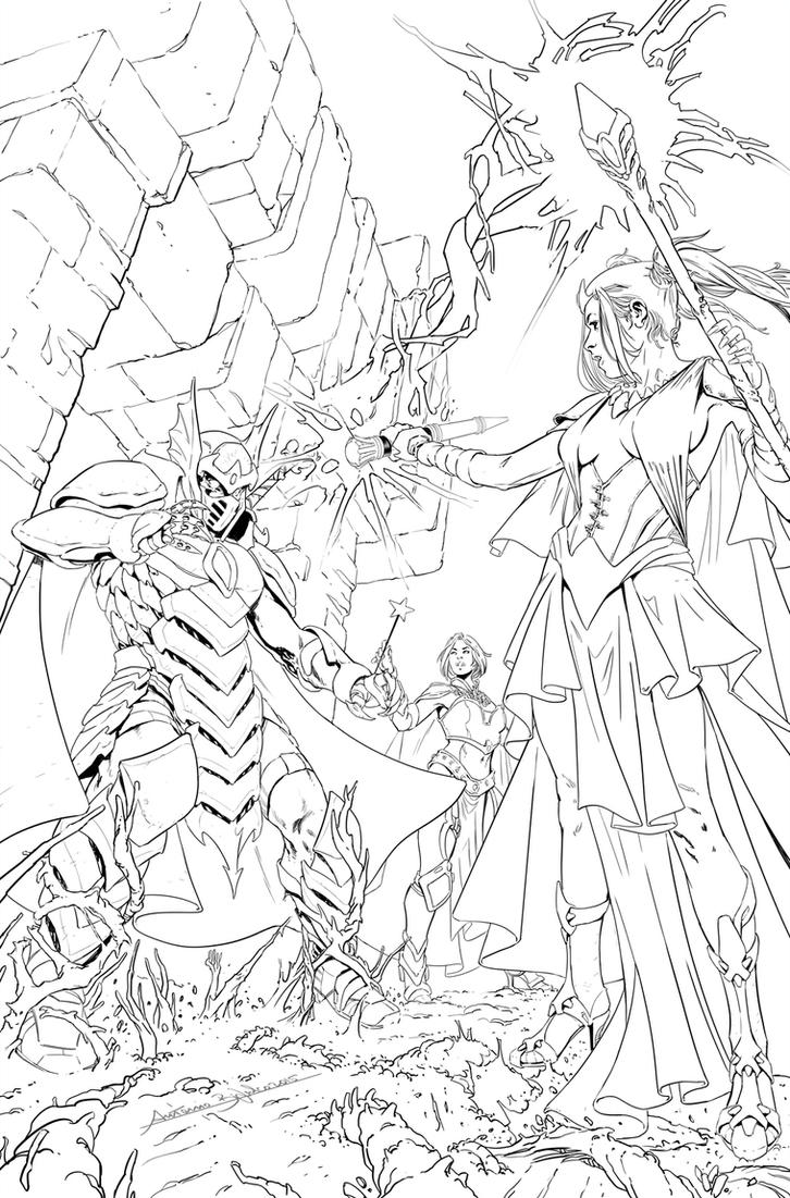 Oz: Reign of the Witch Queen #4 cover inks by fragcomics