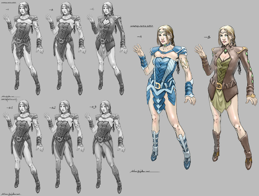Dorothy battle outfit design by fragcomics