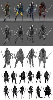 Pirates character concept progress