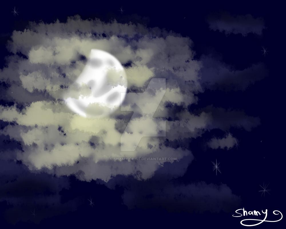 Luna cuarto menguante by shamy crist on deviantart for Cuarto menguante de la luna