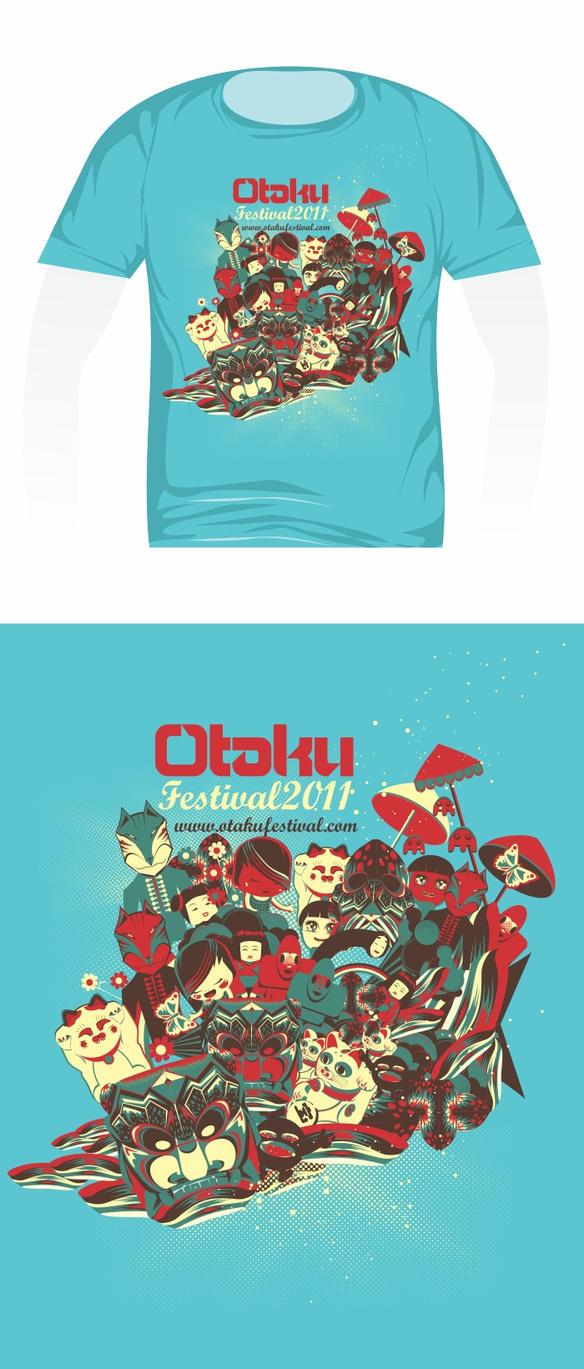 Otaku festival t shirt design by dronograph on deviantart for T shirt design festival