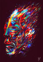 Accelerated portrait of the wormhole traveler by dronograph