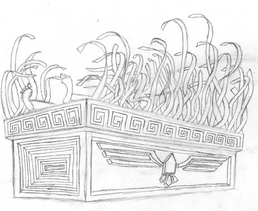 Egypt pharaonic mummification - vector Clip Art