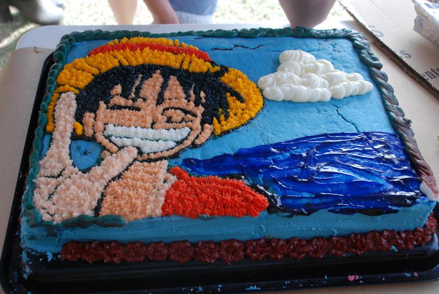 Luffy Birthday Cake