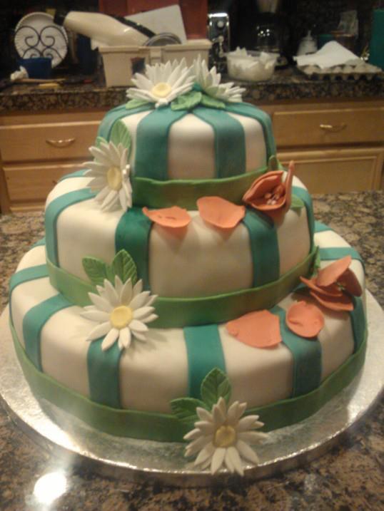 Spring Time Wedding Cake by Selene200
