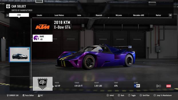 2018 KTM X-Bow GT4 - Forza Motorsport 7