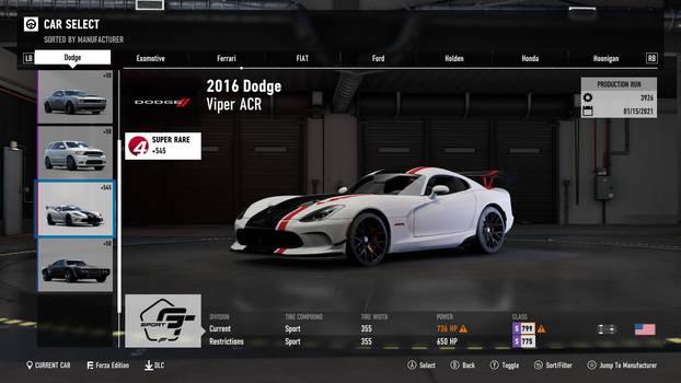 2016 Dodge Viper ACR - Forza Motorsport 7