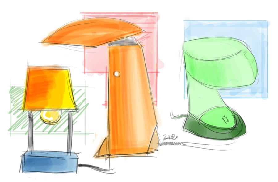 Table Design Sketches. Table Lamp Sketches By Haziq143 Design D