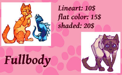 Fullbody commissions READ THE DESCRIBTION