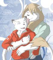 Lion Hugs by RalphTheFeline