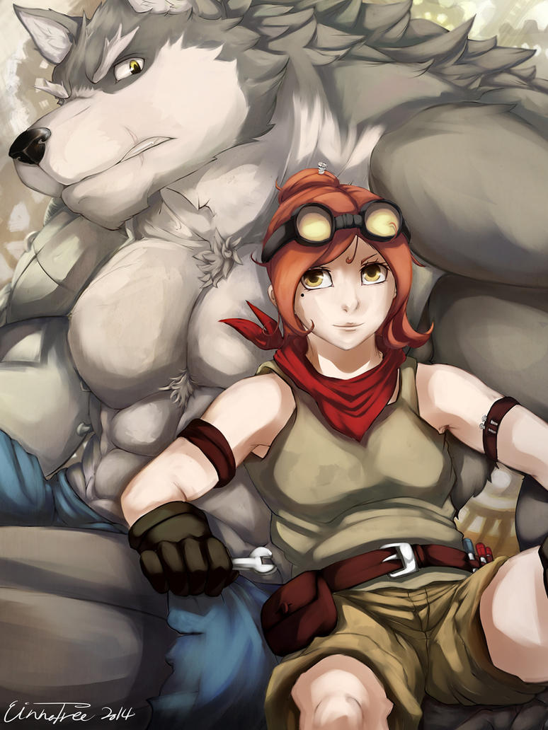 Red And the Big Wolf by Cinna-Tree