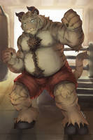 Comm: Boxing Tiger Bull by RalphTheFeline