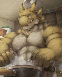 Cooking Middle Aged Dragon