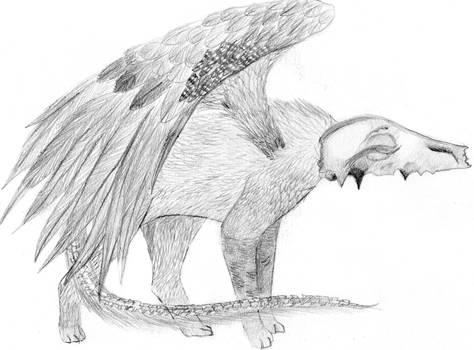 School Art: Wolfie Creature