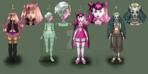 (OPEN) - Monster Girls cheap flatsale 2/4