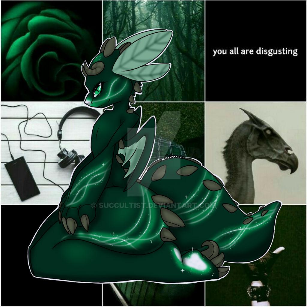 Open OTA - slytherin dragon adopt