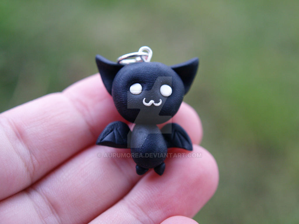 cute bat charm - halloweenaurumorea on deviantart