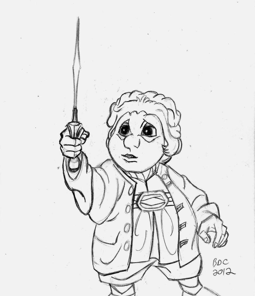 RANKIN BASS HOBBIT__Bilbo finds Sting by BecDeCorbin