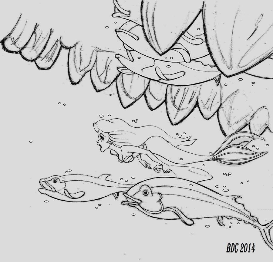 Disney_Ariel meets Monstro_Ask Any Mermaid by BecDeCorbin