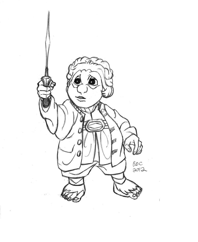 Bilbo the hobbit free coloring pages for The hobbit coloring pages