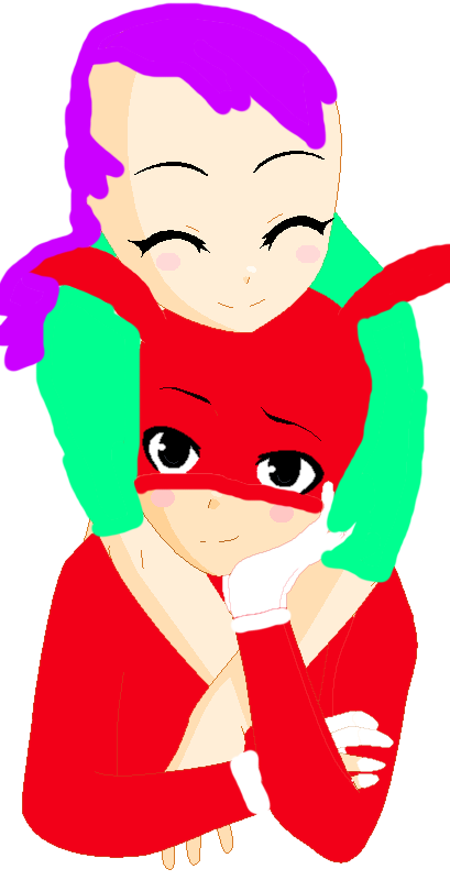 Me hugging Noid by SuperSmashLexi