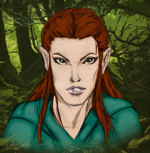 Colours on K R Thompson's Tauriel sketch