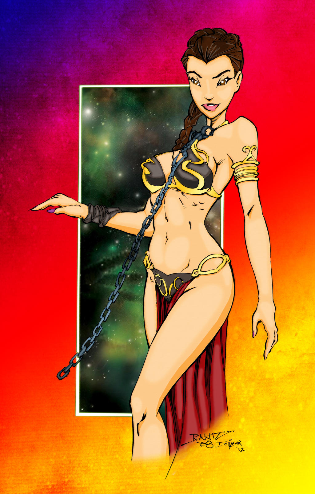 Colours on Slave Leia by hellbat