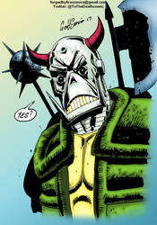 Colours on Geoff's Deaths Head by hellbat
