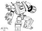 Steamroller robot mode