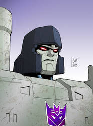 Colours on Cassey Coller's Megatron sketch