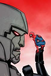 Colours on Ivan's Megatron/Spider-Man inks