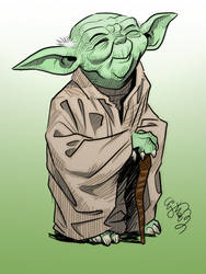Colours on EJ Su's Yoda sketch