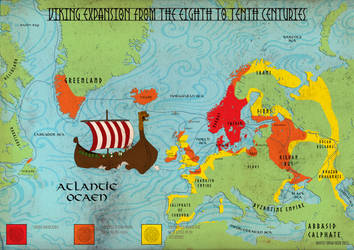 Viking Exploration and Expansion Map