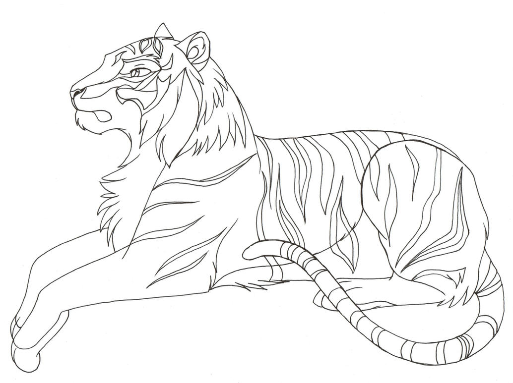 Line Art Tiger : Tiger s by dragoncat ink on deviantart