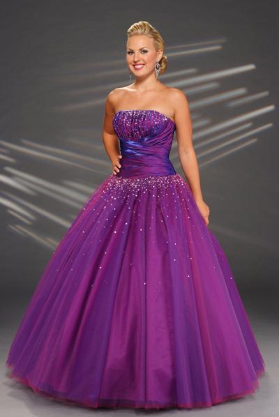 Purple Poofy Prom Dresses