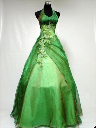 Green nature dress