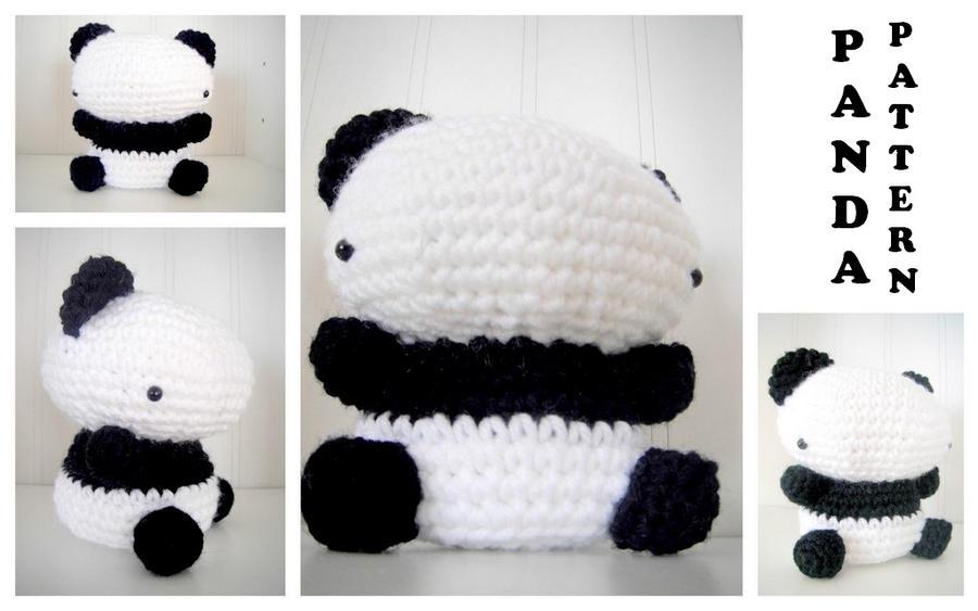 Amigurumi Panda Bear Crochet Pattern : Amigurumi panda bear pattern by theslushie on deviantart