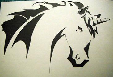 Unicorn Stencil by TheSlushie